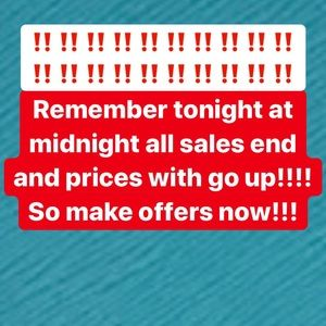 Sales end tonight!!!!!!